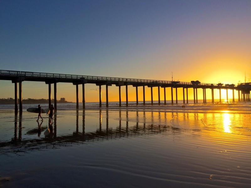 Ocean Beach Pier at sunset 2015 by Gregg Webber