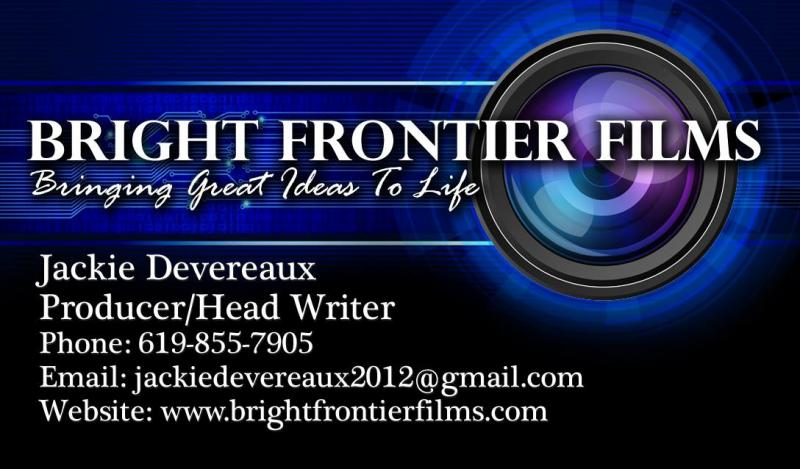 Bright Frontier Films business card